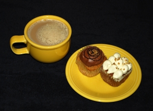 Coffee and cupcakes- click to enlarge