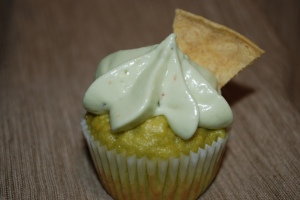 Finished Guacamole cupcake: click to enlarge